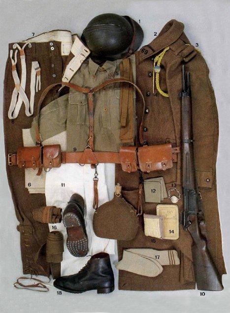 Le soldat français en 1939-40 dans UNIFORMES effets_homme