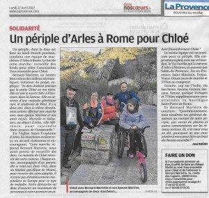 Un périple d'Arles à Rome pour Chloé0011