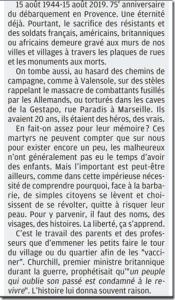 L'EDITO de Philippe SCHMIT dans la Provence 75 ans provence